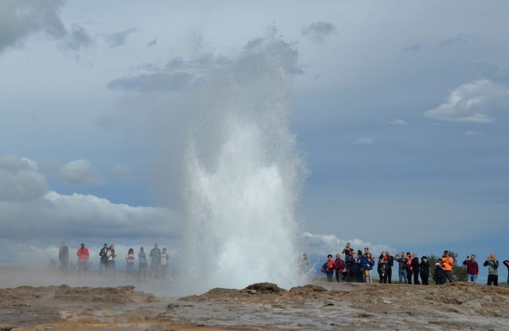 When Strokkur erupts, it is beautiful and smelly